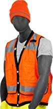 Majestic Glove 75-3208 Fabric High Visibility Heavy Duty Mesh Vest with Snap Closure, 2X-Large, Orange