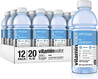 Vitaminwater Zero Sugar Ice, Ice Cool Blueberry-Lavender Flavored, Electrolyte Enhanced Bottled...