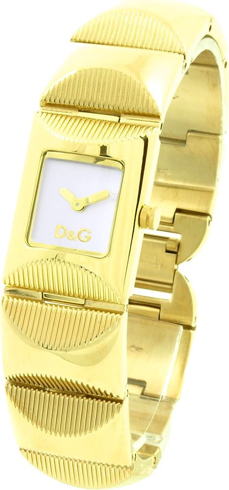 Dolce & gabbana, orologio da donna con movimento al quarzo, in acciaio con trattamento ip oro. DW0323 D&G