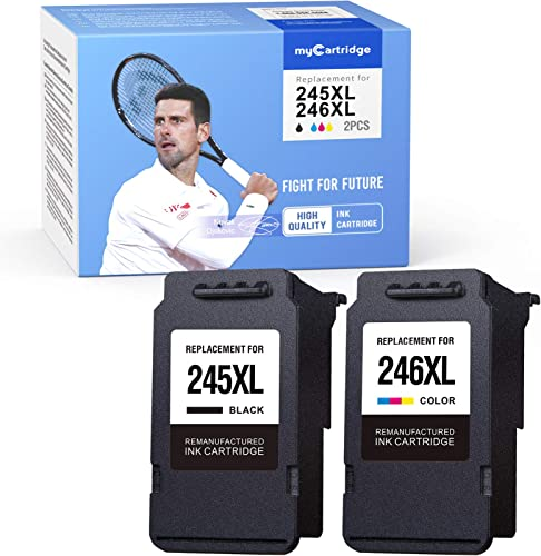 lowest myCartridge Remanufactured Ink Cartridge Replacement for Canon PG-245XL CL-246XL 245 246 online sale wholesale (1 Black 1 Tri-Color, 2-Pack) Work with Canon PIXMA MX492 MX490 MG2520 MG2522 MG3022 MG2922 TS3120 TS3122 outlet online sale