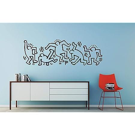 Keith Haring Wall Decal  Keith Haring Art  Home Decor  Wall art   Housing Warming Gift  Christmas Gift