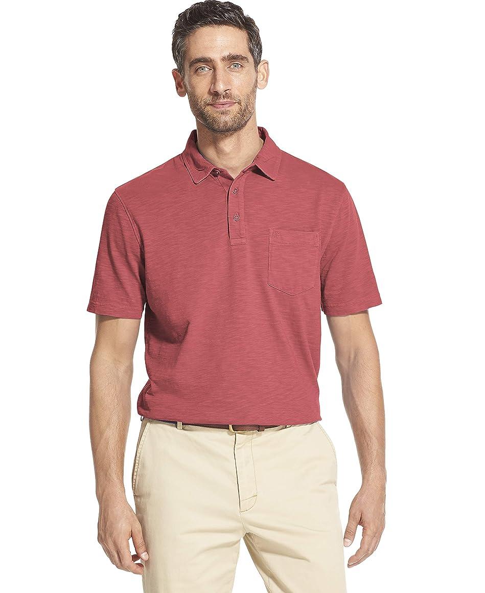 IZOD Men's Saltwater Dockside Short Sleeve Slub Solid Polo