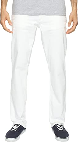 Slim Straight Jeans in White Wash