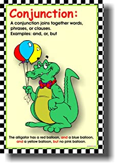 Conjunction - Classroom Parts of Speech Language Arts Poster