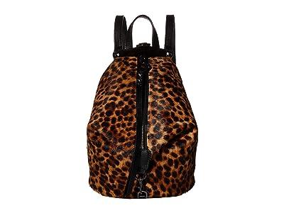 Rebecca Minkoff Convertible Mini Julian Backpack (Leopard) Backpack Bags