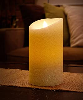 """Aluratek ALC3507F 7"""" Flameless LED Wax Candle with Built-in Timer, Cream"""