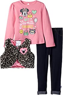 Disney Baby Girls' Minnie Mouse 3 Piece Vest, Top, and Pants