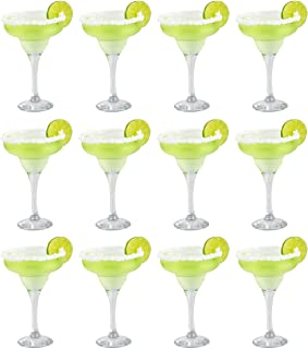 Epure Firenze Collection 12 Piece Margarita Glass Set - Classic For Drinking Margaritas, Pina Coladas, Daiquiris, and Othe...