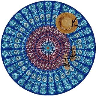comprar comparacion Manfé Indian Feather Mandala Toalla De Playa PortáTil Redonda 150 Cm Resistente A La Arena SúPer Ligeray De Secado RáPido ...