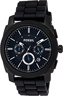 Fossil Men's 45mm Black Resin Chronograph Watch