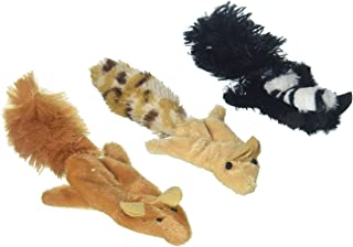 Ethical Pets 2680 Skinneeez Forest Creatures For Cats, Pack of 3 (Squirrel, Chipmunk or Skunk)