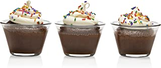 Libbey Just Baking Glass Cupcake Baking Dish Set with Plastic Lids, Set of 12