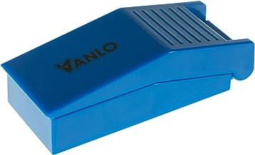 Cortador de píldoras, panel de plástico con bandeja en azul, separador de medicamento, cortador de pastillas