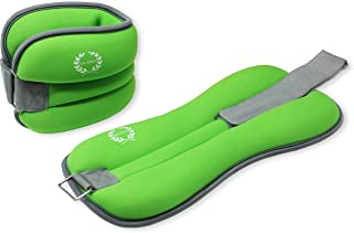 DA VINCI Adjustable Ankle or Wrist Weights Sold in Pairs of 1 to 5 lbs (2 to 10 lbs per Set)
