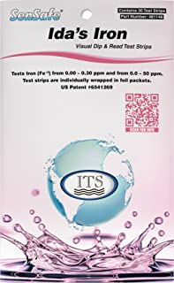 Industrial Test Systems 481146 Sensafe Iron (Ida`s) Water Test Strips 30 Pack