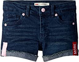 Levi's® Kids Embroidered Shorty Shorts (Little Kids)