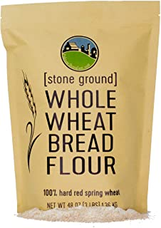 Hard Red Spring Whole Wheat Flour • Bread Flour • Non-GMO • 3 LBS • 100% Non-Irradiated • Kosher • USA Grown • Field Trace...