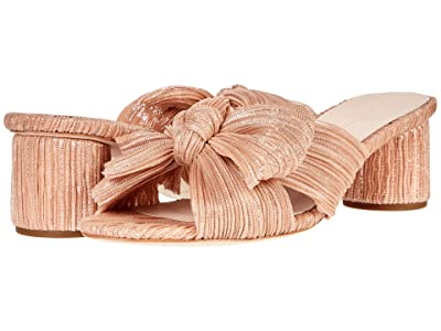 Loeffler Randall Emilia Pleated Knot Mule (Peach) Women