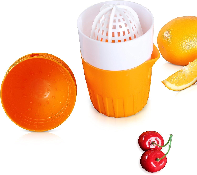 Exprimidor de cítricos manual, práctico y funcional, para naranja, limón, pomelo, portátil y ergonómico