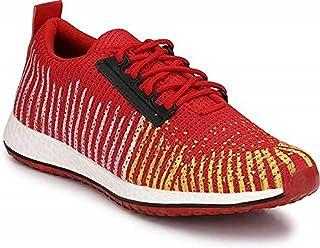 HEEDERIN Men's Red Mesh Lace up Comfortable Sport's 7 UK