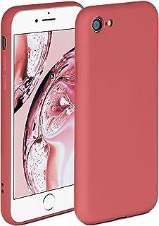 ONEFLOW Soft Case kompatibel mit iPhone 7/8 / SE 2 (2020) Hülle aus Silikon, erhöhte Kante für Bildschirmschutz, zweilagig, weiche Handyhülle   matt Rot