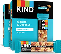 KIND Bars, Almond and Coconut, Gluten Free, 1.4 Ounce Bars, 24 Count