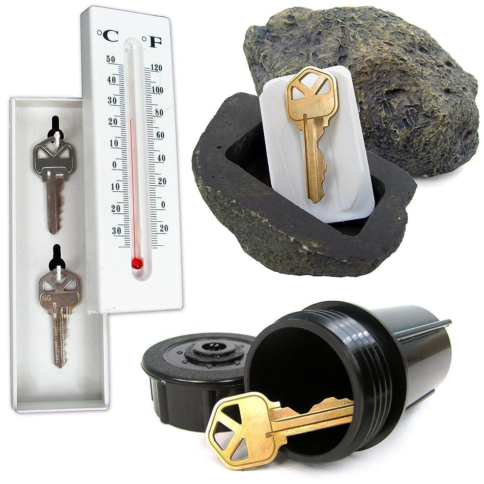 Stalwart 72-KEYSET-A Hide A Key Set with Rock, Thermometer & Sprinkler