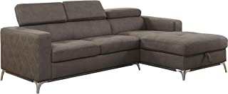 Lexicon 92 x 66 Sectional Sofa with Storage, Brown
