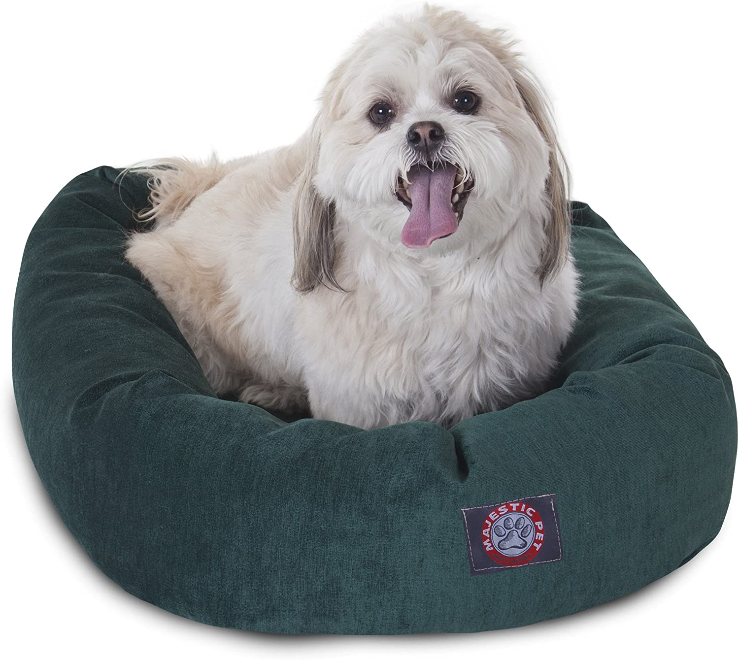 Majestic Pet 24Inch Marine MicroVelvet Bagel Dog Bed