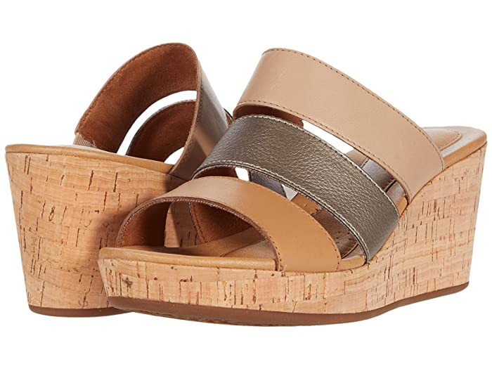 Rockport  Lyla 3 Band Slide (Tan Multi) Womens Sandals
