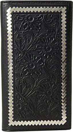 Steel Lacing Tooled Rodeo Wallet