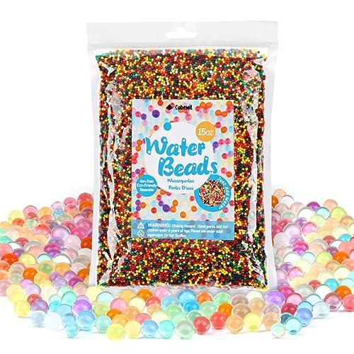 400g perlas de agua perlas de de cristal perlas de jalea colores mezclados arco iris (