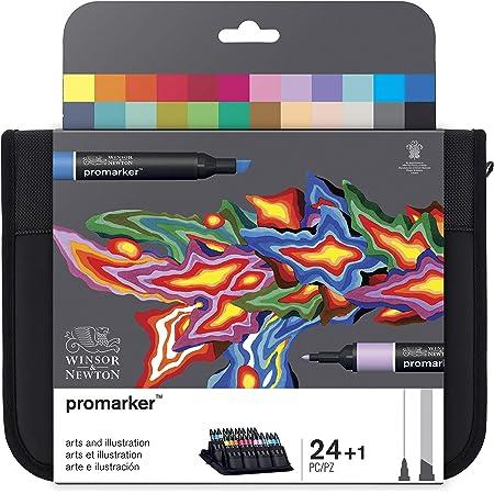 """Winsor & Newton Promarkers Trousse de 24 marqueurs """"Arts et Illustration"""""""