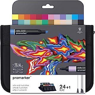 """Winsor & Newton ProMarkers Trousse de 24 marqueur """"Arts et Illustration"""""""