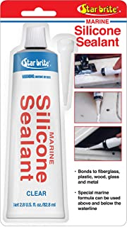 Star brite Marine Silicone Sealant Clear 2.8 oz
