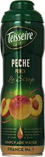 Teisseire Peach Syrup 20.3 fl oz for flavoring tea, for sodas and more. French import, Peach
