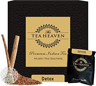 Sponsored Ad - The Tea Heaven 30 Muslin tea bags (2 samples) Detox Herbal Tea blended with Lemon Grass, Rooibos, Burduck, ...