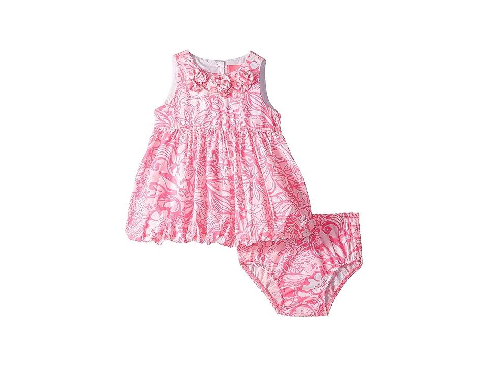 Lilly Pulitzer Kids Baby Britta Bubble Dress (Infant) (Pink Tropics Tint Bunny Hop) Girl