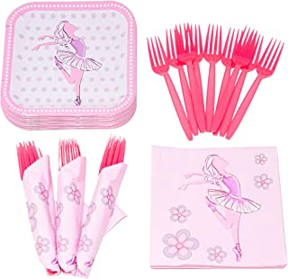 Ballet Value Party Supplies Pack (58+ Pieces for 16 Guests), Value Party Kit, Ballet Party Plates, Ballet Birthday, Napkin...