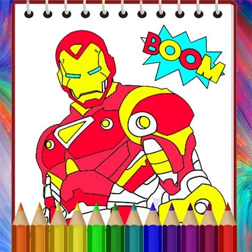 Hero-Man Coloring Book Kids