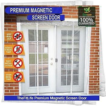 TheFitLife Cortina Mosquitera magnética para Puertas dobles ...