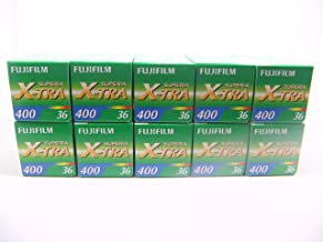 10 Rolls Fuji Fujifilm Superia X-tra ISO 400 36 CH-135-36 35mm Color Print Film