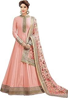 Ethnic Yard Women Sana Silk Semi Stitched Salwar Suit Gowns