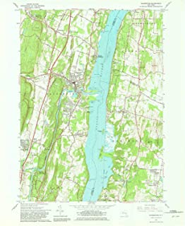 YellowMaps Saugerties NY topo map, 1:24000 Scale, 7.5 X 7.5 Minute, Historical, 1963, Updated 1981, 26.9 x 22 in