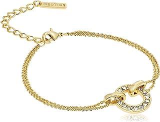 MESTIGE Women Crystal Golden Lorelei Bracelet with Swarovski Crystals