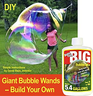 Bubble Thing. Build Your Own Super Giant Bubble Wands and Blow Bubbles Big As Whales. (Not Kidding. See Videos Here.) Expert Plans and Big Bubble Mix.