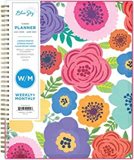 "Blue Sky 2020-2021 Academic Year Weekly & Monthly Planner, Flexible Cover, Twin-Wire Binding, 8.5"" x 11"", Mahalo, (Model: 100149-A21)"
