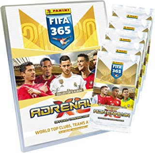 Panini 4408954 Adrenalyn XL Trading Cards FIFA 365 Season 2019/2020, Starter Set with Collector Folder, Collector's Magazine, Game Field, 30 Limited Edition Card, Multi-Coloured