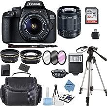 $348 » Canon EOS 4000D Digital SLR Camera w/ 18-55MM DC III Lens Kit (Black) with Accessory Bundle, Package Includes: SanDisk 32GB Card + DSLR Bag + 50'' Tripod+TOPKNOTCH Deals Cloth(International Model)