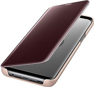 غطاء حماية قائم يتيح مشاهدة واضحة لشاشة الهاتف لسامسونج جالكسي اس 9 - ذهبي، Ef- Zg960C